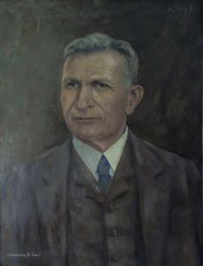 Selbstbildnis von Alfred Janigk – gemalt auf Leinwand - 60 X 70 cm
