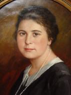 """Halbporträt einer jungen Frau"""" - gemalt von Alfred Janigk."""