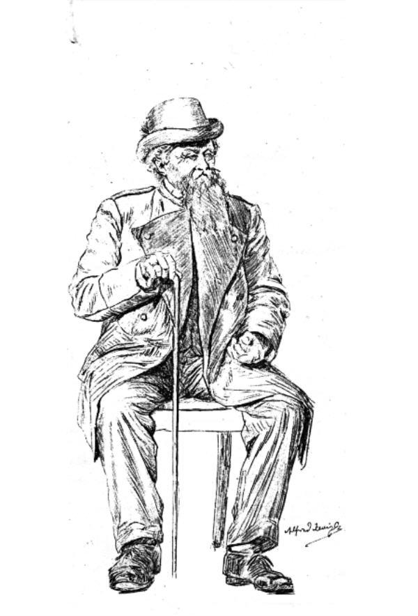 Skizze von Alfred Janigkj